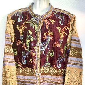 Sag harbor brocade jacket size 16